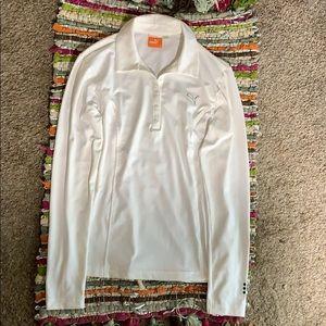 Puma Life style white long sleeve button shirt